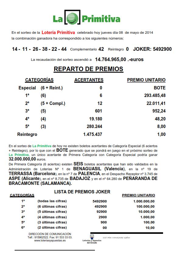 NOTA_DE_PRENSA_DE_LA_PRIMITIVA_DEL_JUEVES _8_05_14_001