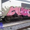 La Audiencia de Alicante condena a dos años de prisión a tres grafiteros por parar un tren con una barricada para pintarlo