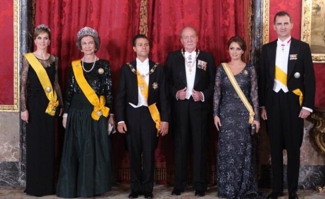 Visita de Estado de Sus Excelencias el Presidente de los Estados Unidos Mexicanos y Señora Rivera de Peña. Foto archivo