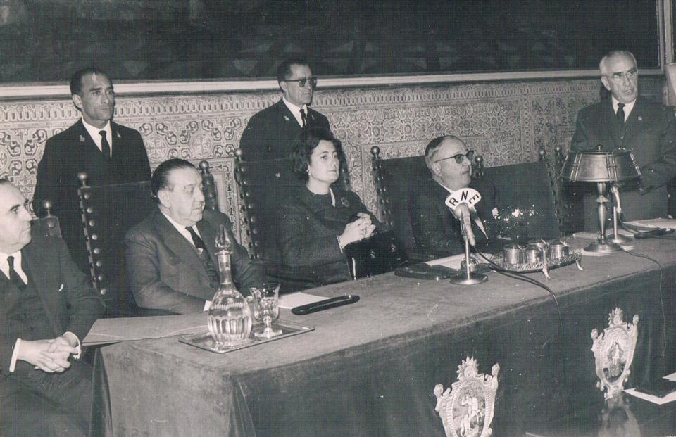 Asamblea de la Asociación Provincial Lucha Contra el Cáncer. 1965