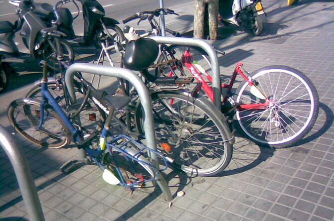 Bicis-aparcadas