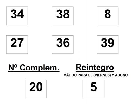 Combinación ganadora del sorteo de Bonoloto del viernes 13 de junio de 2014