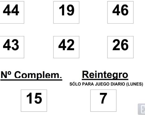 Combinación ganadora del sorteo de la Bonoloto del lunes 16 de junio 2014