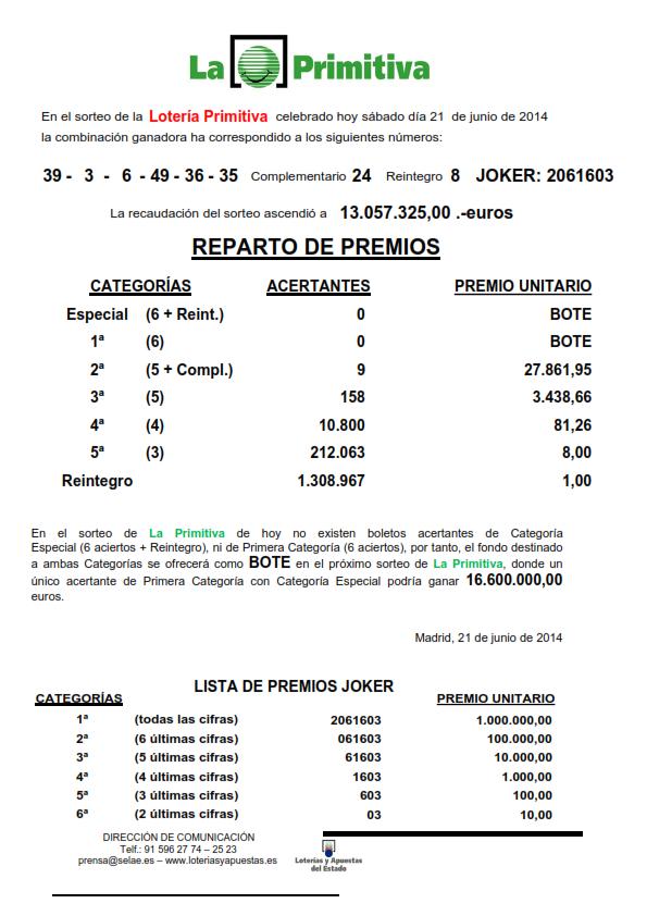 NOTA_DE_PRENSA_DE_LA_PRIMITIVA_DEL SABADO _21_06_14_001