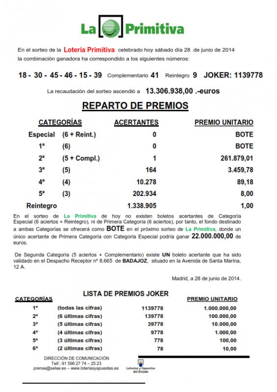NOTA_DE_PRENSA_DE_LA_PRIMITIVA_DEL SABADO _28_06_14_001