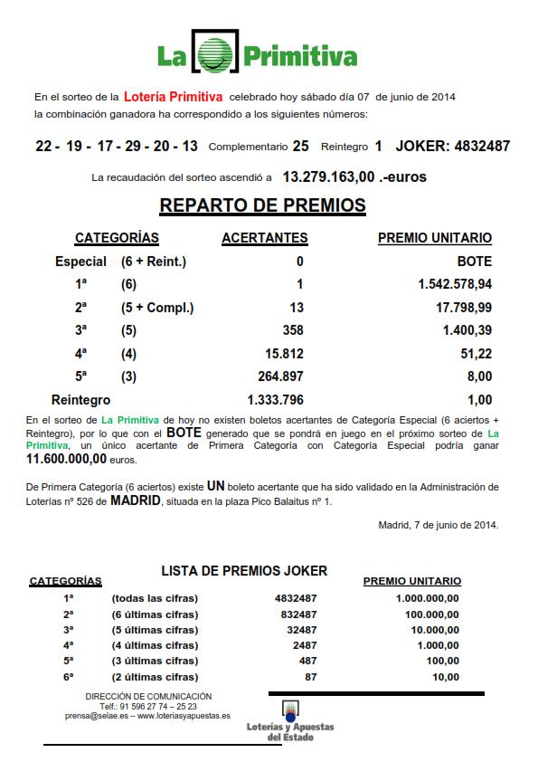 NOTA_DE_PRENSA_DE_LA_PRIMITIVA_DEL SABADO _7_06_14_001