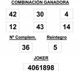 Sorteo de la Lotería Primitiva celebrado hoy sábado día 31 de mayo de 2014
