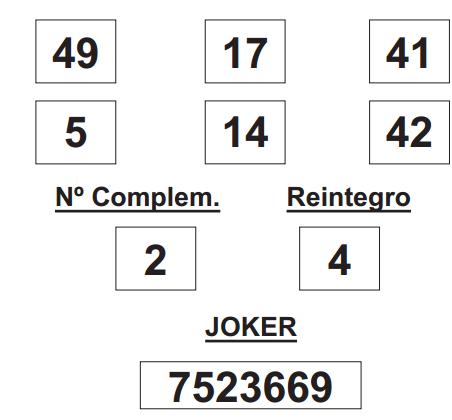 sorteo de la Lotería Primitiva celebrado hoy jueves día 26 de junio de 2014