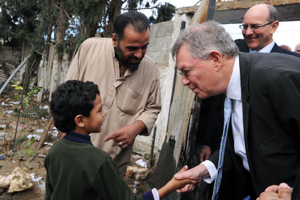 El coordinador especial de la ONU para el Proceso de Paz en Oriente Medio, Robert Serry, en Gaza Foto archivo:UN Photo/Shareef Sarhan