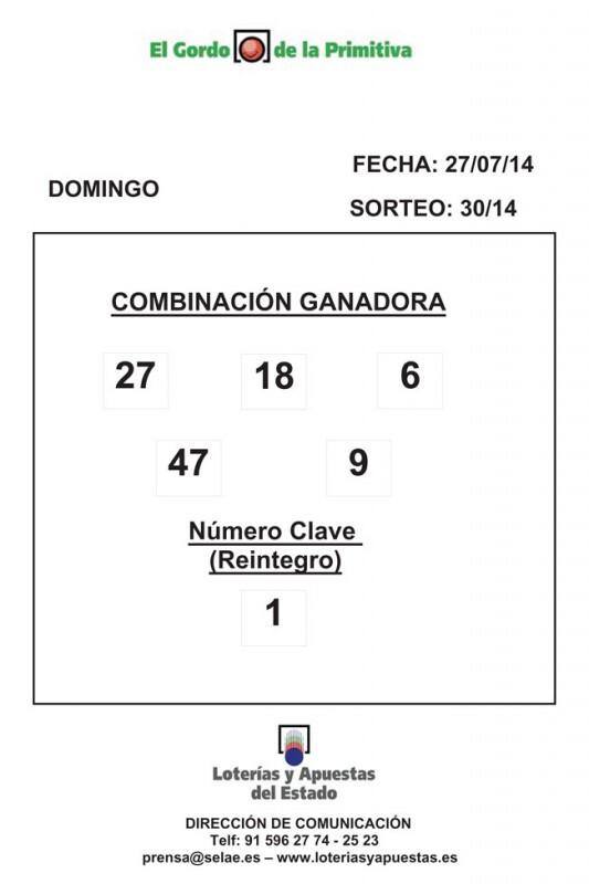 COMBINACION_GANADORA_DE_EL_GORDO_DE_LA-PRIMITIVA_DIA_27_07_14