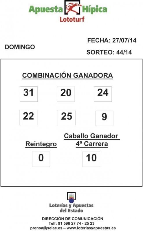 COMBINACION_GANADORA_LOTOTURF_27_07_14