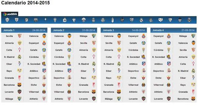 calendario-primeras-jornadas-liga-2014-2015