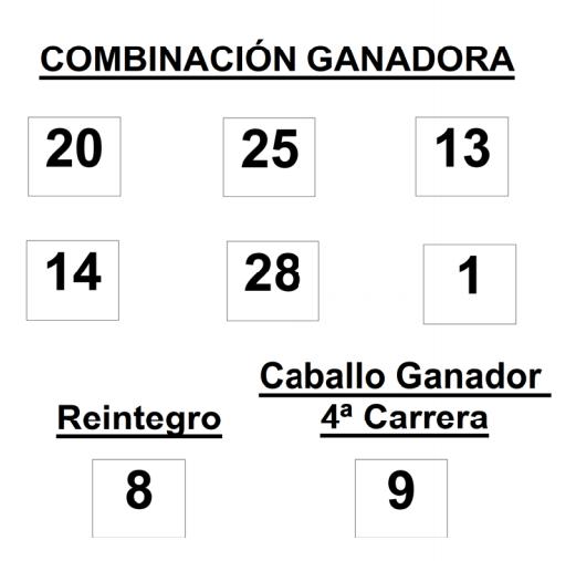 sorteo de la  Lototurf celebrado el  jueves día 17 de julio de 2014    COMBINACION_GANADORA_LOTOTURF_17_07_14.pdf