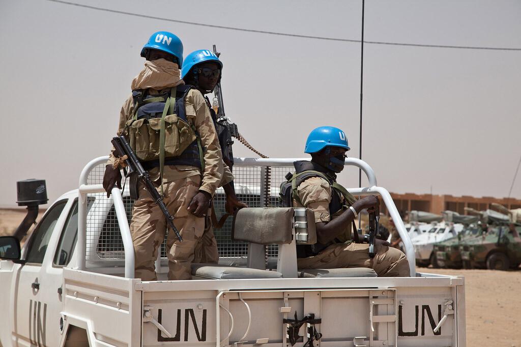 Cascos azules de la MINUSMA patrullan en la ciudad de Kidal, Mali Foto:MINUSMA/Blagoje Grujic