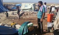 Asistencia a desplazados Yazidis en el campamento de Newroz, en Siria Foto: ACNUR