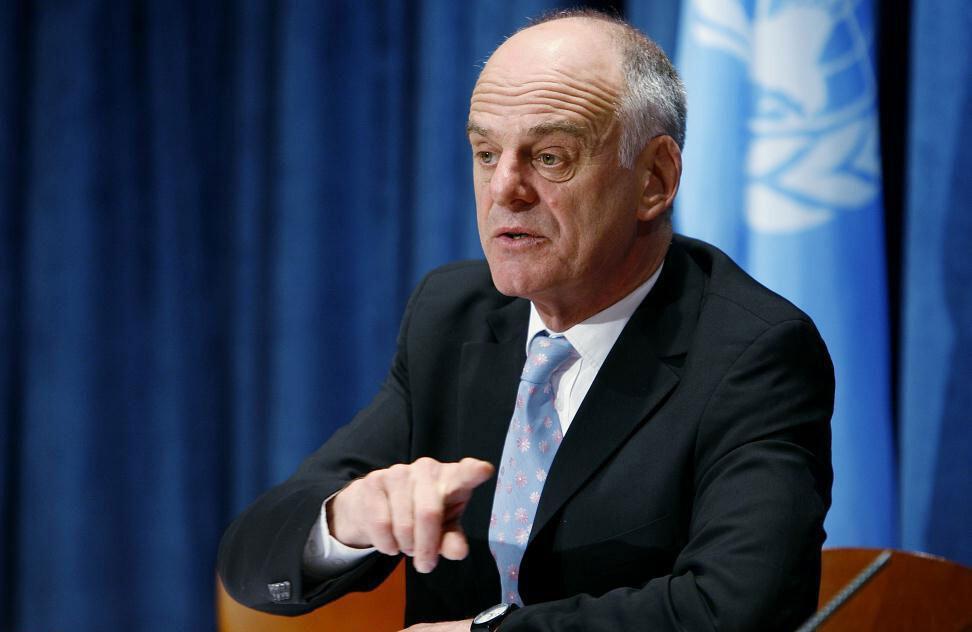 El coordinador de la ONU para la respuesta al ébola, David Nabarro Foto archivo: ONU/Mark Garten
