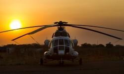 Helicóptero de la Misión de la ONU en Sudán del Sur (UNMISS) Foto: ONU/Martine Perret