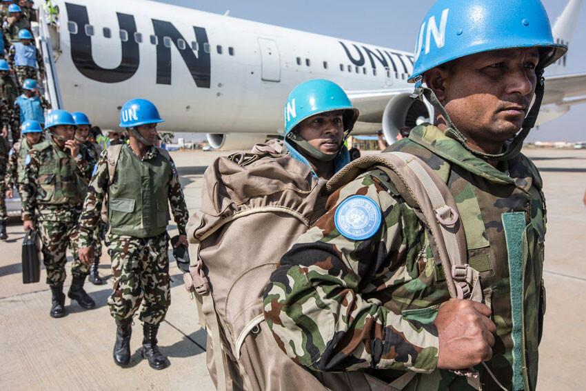 Efectivos del contingente de UNMISS en Sudán del Sur Foto.ONU/Isaac Billy
