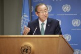 El Secretario General de la ONU, Ban Ki-moon Foto: ONU/Paulo Filgueiras