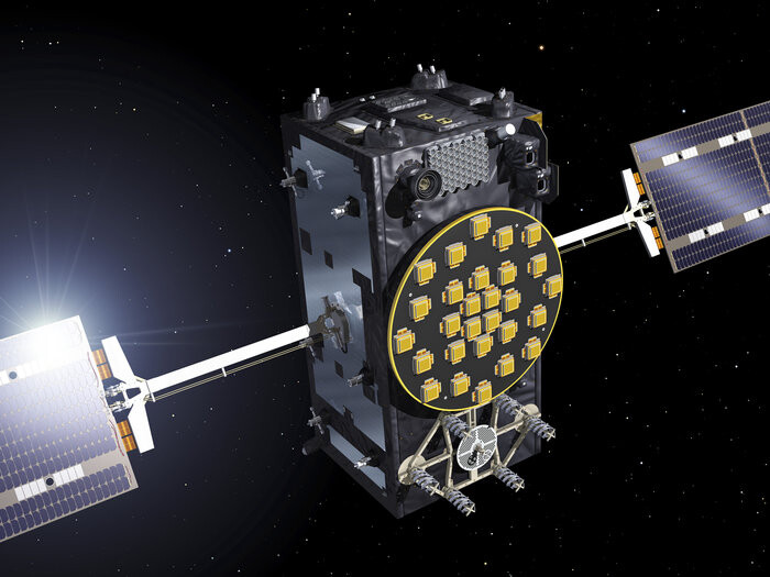 Artist's view of one of the first two FOC satellitesESA–J. Huart, 2014