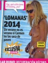 Carmen Lomana, en topless en las playas de Marbella