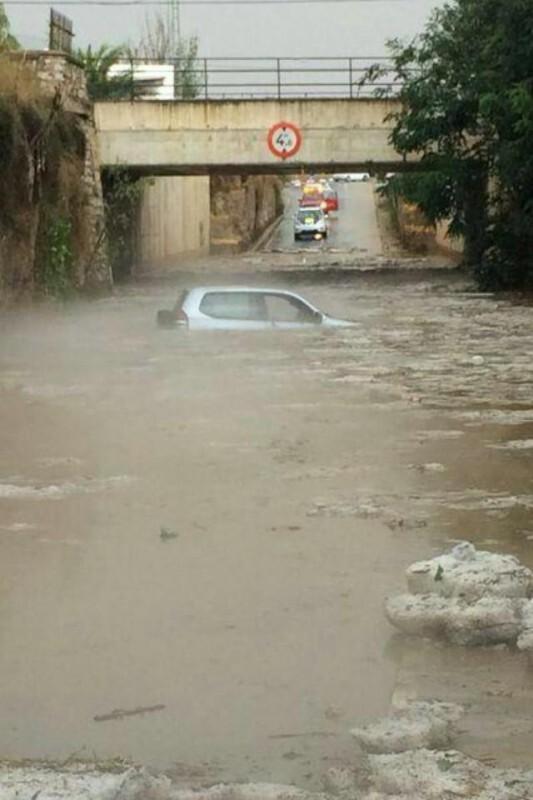 Imagen de paso inundado en Benicarlo