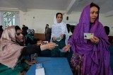 Votantes en la segunda vuelta de las elecciones presidenciales, en junio de 2014 Foto; UNAMA