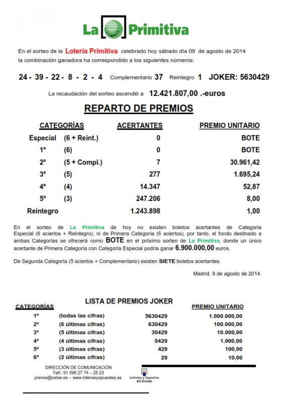 NOTA_DE_PRENSA_DE_LA_PRIMITIVA_DEL SABADO _9_8_14_001