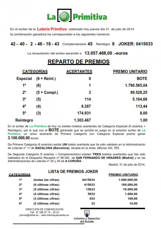 NOTA_DE_PRENSA_DE_LA_PRIMITIVA_DEL_JUEVES _31_07_14_001