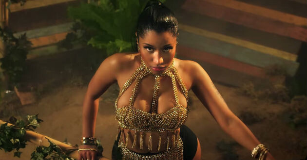Nicki Minaje en su video de 'Anaconda'. (YouTube)