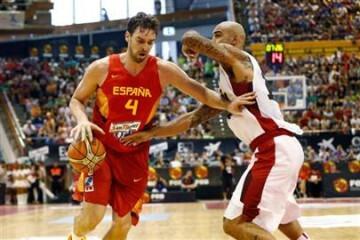 Todo preparado para el debut de España (Foto: FEB)