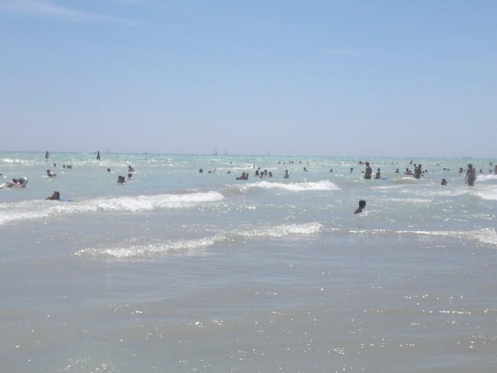 bañistas playa