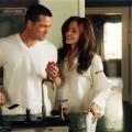 Brad Pitt y Angelina Jolie en una escena de  Foto: LUCAS FOSTER Y AKIVA GOLDSMAN