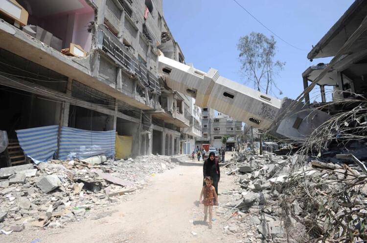 Edificios dañados en Gaza por bombardeos israelies Foto. UNRWA Archivos/Shareef Sarhan