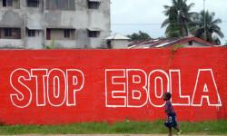 Pintada contra el ébola en una de las zonas afectadas ©BELGA_AFP_D.FAGET