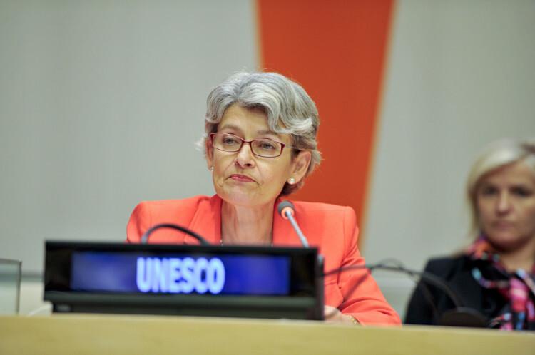 La directora general de la UNESCO, Irina Bokova Foto: ONU/Amanda Voisard