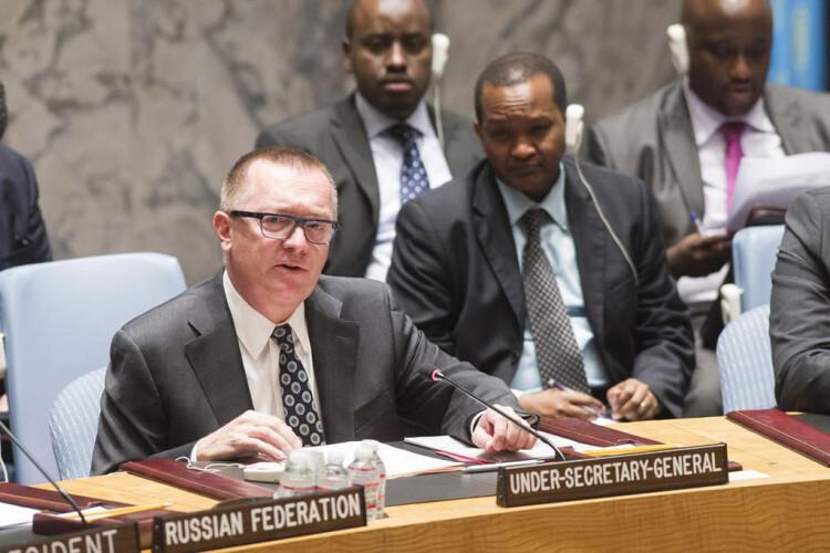El Secretario General adjunto de la ONU para Asuntos Políticos, Jeffrey Feltman Foto. ONU/Mark Garten