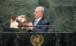 El primer ministro de Israel, Banjamin Netanyahu, en su discurso ante la Asamblea General de la ONU Foto: ONU/Amanda Voisard