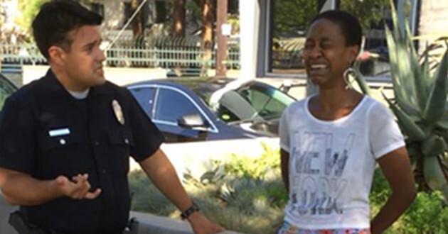 Actriz es detenida al ser confundida con prostituta La actriz Daniele Watts durante su arresto. (Facebook)