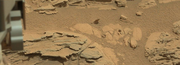 roca esférica en Marte