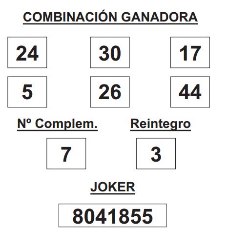 COMBINACIÓN GANADORA DE LOTERÍA PRIMITIVA DE FECHA 18 DE SEPTIEMBRE DE 2014.