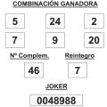 COMBINACIÓN GANADORA DEL SORTEO DE LA PRIMITIVA DE FECHA 11 DE SEPTIEMBRE DE 2014.