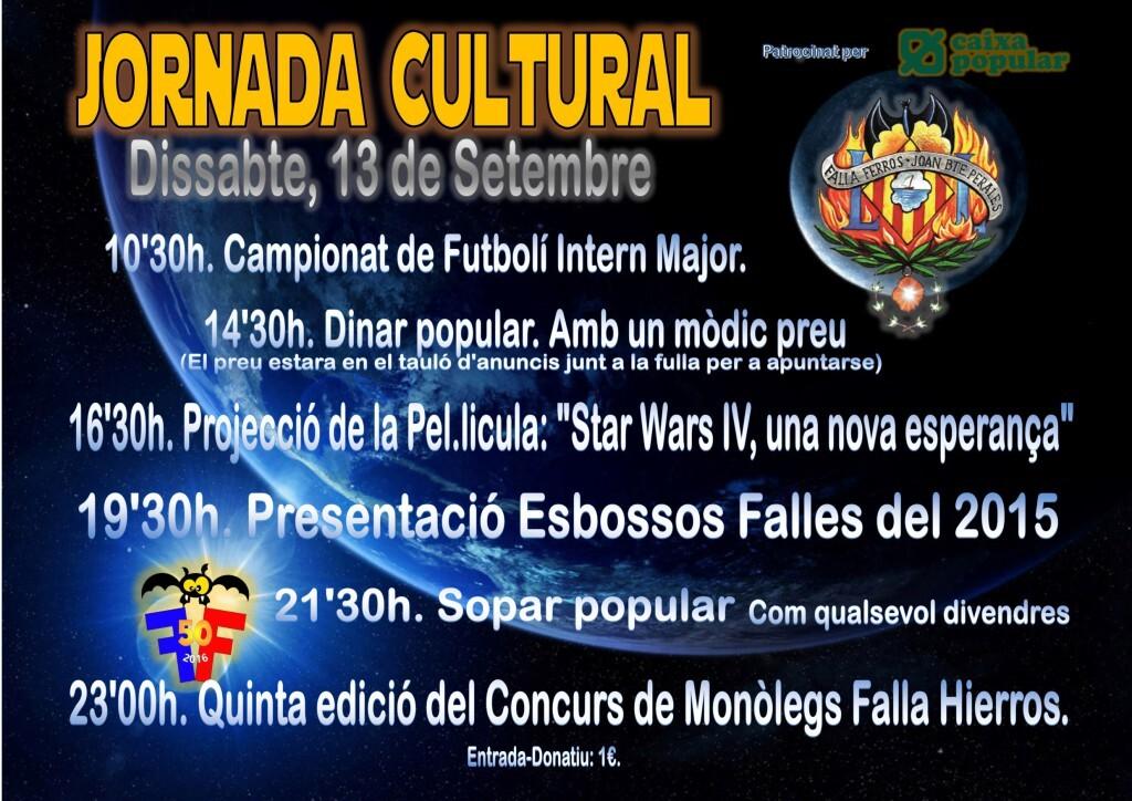 Cartel jornada Cultural 2014
