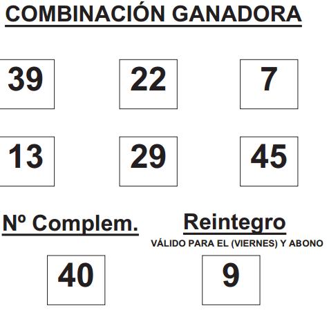 Combinaciones ganadores DE BONOLOTO DE FECHA 12 DE SEPTIEMBRE DE 2014.