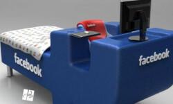 La cama individual para adictos a Facebook. (ElPais.com.uy)