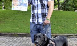 David Casinos y Ximena, padrinos de la 2ª Can-rrera de Valencia - presentación en Bioparc