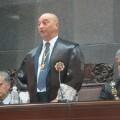 El nuevo presidente del TSJC, Antonio Doreste, durante su discurso