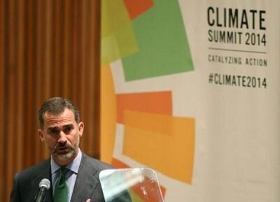 El rey en la cumbre del clima