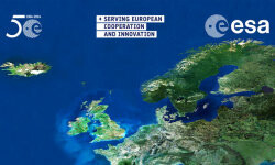 English_projection_screen_for_50_years_of_European_cooperation_in_Space_large