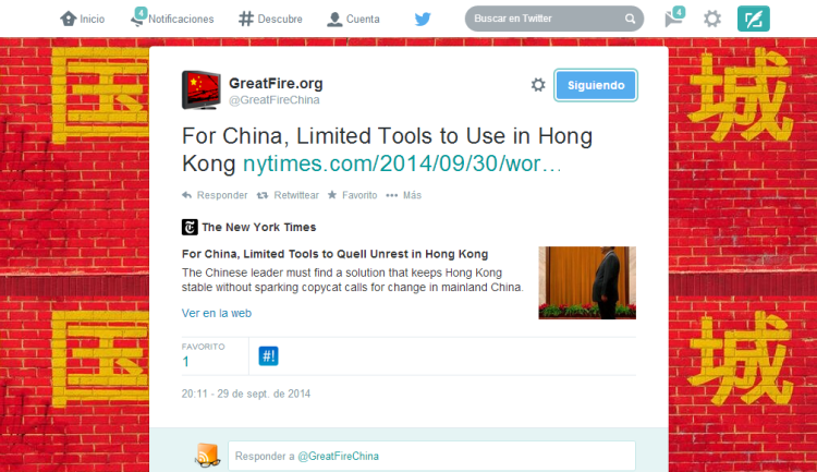 GreatFire.org en Twitter   For China  Limited Tools to Use in Hong Kong http   t.co oSVhwHn2hF